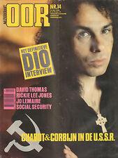 MAGAZINE OOR 1983 nr. 14 - DIO/KIDS/JO LEMAIRE/RICKY LEE JONES/PERE UBU