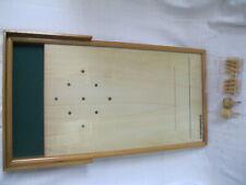 Vintage Meraner Tischkegelspiel Tisch-Kegel-Spiel Tirol Turnierbrett mit Kegeln