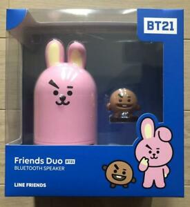 BT21 Friends Duo Bluetooth Official portable Speaker Figure Set Cooky Shooky