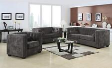 Coaster Fine Furniture Alexis Charcoal Sofa and Loveseat Living Room