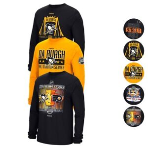 "Reebok NHL 2017 Stadium Series""Broad Street Build"" Long Sleeve T-Shirt Men's"