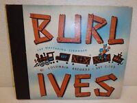 """1944 BURL IVES The Wayfaring Stranger 10""""/78 4-Record Set Columbia C-103 VG/VG+"""