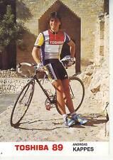 CYCLISME carte cycliste ANDREAS KAPPES équipe TOSHIBA 89