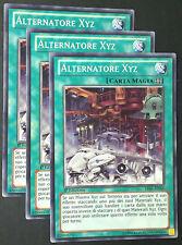 Set 3X ALTERNATORE XYZ  LVAL-IT068 Magia Comune in Italiano YUGIOH