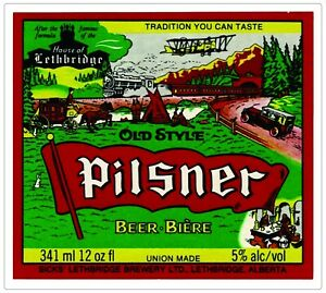 """Pilsner Old Style Beer Alcohol Bumper sticker, wall decor, vinyl decal, 5""""x 5"""""""