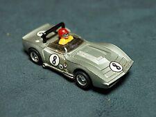 Tyco Pro HO Slot Car A/P Corvette  Silver #8  Nice