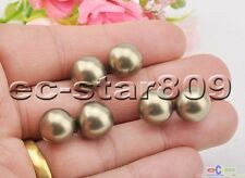 P5506 Wholesale 12mm Bronze Round South Sea Shell pearl Stud Earring 3Pair