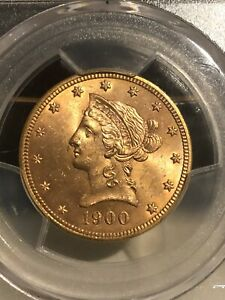 1900 $10 PCGS MS64  - Liberty Eagle - Gold Coin Beautiful Strike