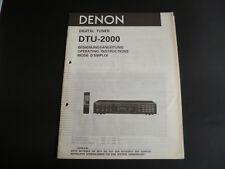 Manuale di istruzioni originale Denon dtu-2000