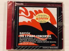 Bela Bartok The 3 Piano Concertos Stephen Bishop Kovacevich CD New Sealed Gift