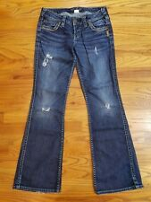 Silver Women's Frances W26/L31 Boot Cut Jeans Distressed