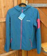 """Ladies Columbia Fleece Hoodie Jacket Novelty Full Zip Fleece Large 40"""" Chest NWT"""