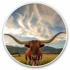 2 x Vinyl Stickers 7.5cm - Texas Longhorn Cow American Cool Gift #14569