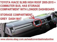 DASH MAT, GREY DASHMAT FIT TOYOTA HIACE 2005-2015 SLWB  HIGH ROOF+COMMUTER, GREY