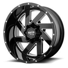 22 Inch Black Milled Wheels Rims Moto Metal MO988 8x6.5 Lug 22x10 Hummer H2 NEW