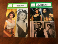 RARE Sophia Loren Hand Signed Autographed 8 x 5 Inch Cards -  French Movie Cards