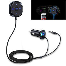 3.5mm Wireless Car Bluetooth AUX Adapter Audio Stereo Receiver USB Charger kit