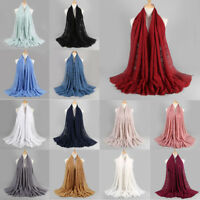 Women Fashion Muslim Hollow Casual Long Hijab Scarf Shawl Ladies Wrap Stole P