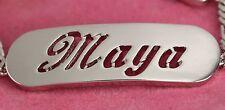 Weiß Vergolde Namensarmband - MAYA - Geschenke Personalisierte Schmuck