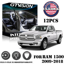 12x White LED Interior Lights Package Kit Fit 2009 - 2017 2018 RAM 1500 +Tool
