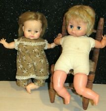 Lot Of 2 Vintage 1960s Baby Dolls HORSMAN,UNEEDA DOLLS CLOTH BODIES  SO CUTE