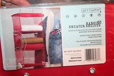 r- HANGING SWEATER STACKER NEW IN PKG RED COLOR SO HANDY