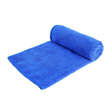 Car 30cm x 70cm Blue Soft Microfiber Absorbent Towel Clean Wipe Dry Polish Cloth