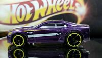 Hot Wheels 2010 Camaro SS GM Purple and White Stripes Clear Windows