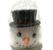 "Snowman Candle from Kohls Store Frosty Top Hat Carrot Nose Large 6.25"" x 6"""