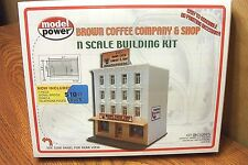 MODEL POWER N SCALE BUILDING KIT BROWN COFFEE COMPANY and SHOP