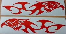 12in tribal hawk eagle flames vinyl graphics tank, wings motorbike,car sticker