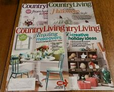 Country Living Magazine Lot of 4 Issues 2011 2013 Christmas Halloween Makeover