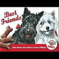 Kühlschrank Magnet 'Best Friends' Hunde Motiv Metall (Na)