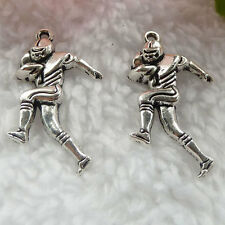 Free Ship 208 pieces tibet silver football player charms 29x16mm  #020