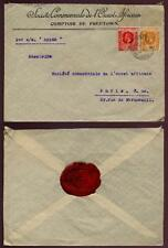 SIERRA LEONE KG5th VF COVER to FRANCE...S.C.O.A. + SEAL