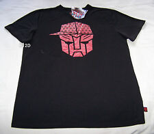Transformers Autobots Logo Mens Black Red Printed T Shirt Size S New