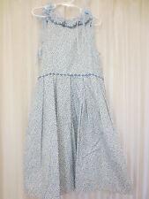 Girl's Charles David Blue Floral Dress EUC 10