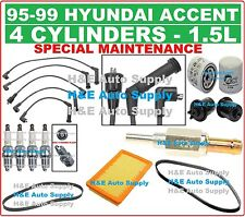 95-99 ACCENT 1.5L TUNE UP KITS: SPARK PLUGS, WIRE SET, BELTS & FILTERS