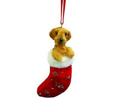 AIREDALE TERRIER STOCKING  DOG CHRISTMAS SANTA'S LITTLE PALS ORNAMENT HOLIDAY