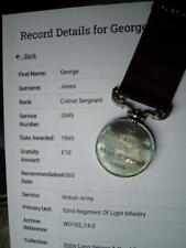 Victorian Ls & Gc Col Sgt Jones 52nd Rgt Indian Mutiny Delhi from Stoke on Trent