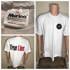 Vintage TRUE LIES 1994 Arnold Schwarzenegger Movie promo t-shirt Omega Sector