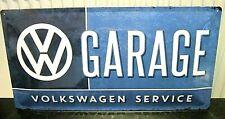 VW Volkswagen Garage Service, Geprägt XL Metall Schild 50x25cm Käfer/Bus German
