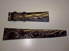 Original Concord Genuine Crocodile Brown Watch Strap 21x16mm