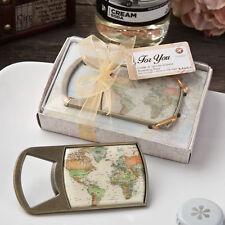 12 Vintage Map Travel Themed Epoxy Bottle Openers Bridal Shower Wedding Favors