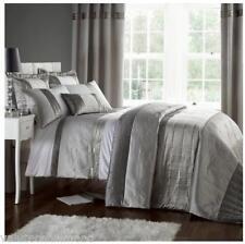 HOUSE ADDITIONS Gatsby Duvet Cover & Rectangular Pillowcase SILVER KING SIZE