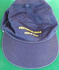 Berretto Cappellino Protezione Civile, Città di Torino, estivo blu, usato 1 volt