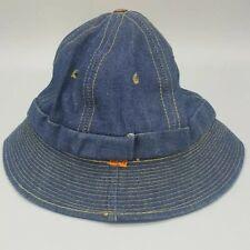 Vintage LEVIS Orange Tab DENIM BUCKET HAT Small 6 1/2-6 5/8 Blue Jean 70s