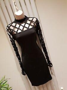 Black Criss Cross Design Dress New No Tags