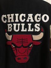 Chicago Bulls Vintage Jeff Hamilton JH Jacket Mens XL Leather Wool Reversible