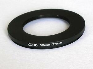 STEP DOWN ADAPTER 58MM-37MM STEPPING RING 58 TO 37MM 58-37 STEP DOWN RING